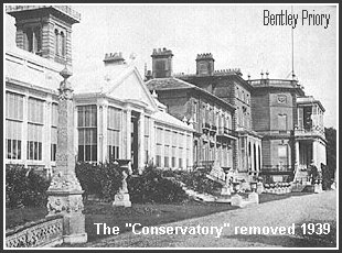 The conservatory was removed at the outbreak of WWII