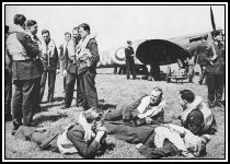 Pilots of 601 Squadron relax at Hawkinge July 1940