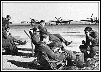 Luftwaffe fighter pilots wait...just as the RAF did.