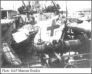 Wreckage of German aircraft on the Highlander